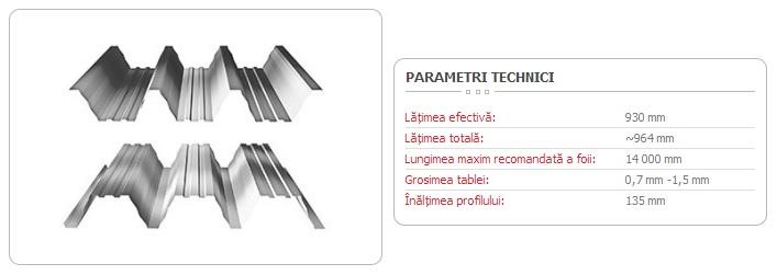 TABLĂ TRAPEZOIDALĂ T-135