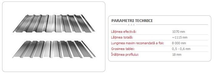 TABLĂ-TRAPEZOIDALĂ-T-18
