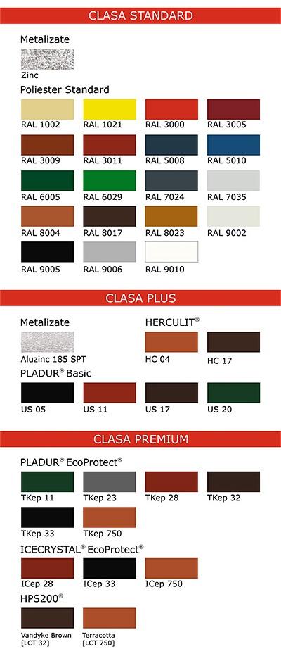 gama de culori