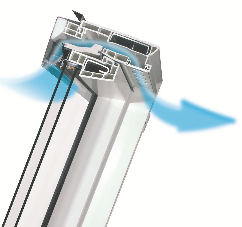 Fereastra de mansarda Fakro FTP-V U3 (ventilatie)